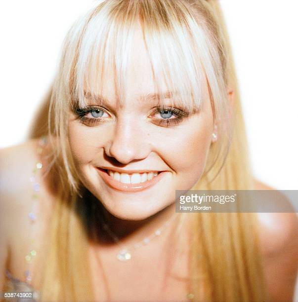 Emma Bunton aka Baby Spice of pop band the Spice Girls is photographed for the Observer on December 8 1997 in Las Vegas Nevada