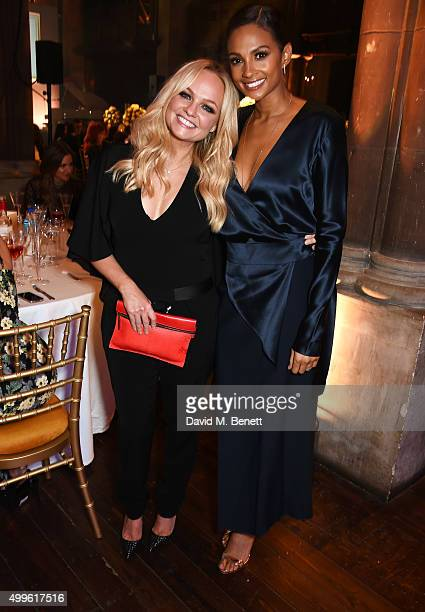 Emma Bunton and Alesha Dixon attend the Cosmopolitan Ultimate Women Of The Year awards at One Mayfair on December 2 2015 in London England
