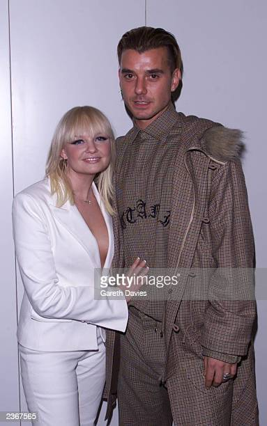 Emma Bunton and Gavin Rossdale from Bush on the webshow during mtv european music awards in Frankfurt Germany 11/8/2001 Photo by Gareth...