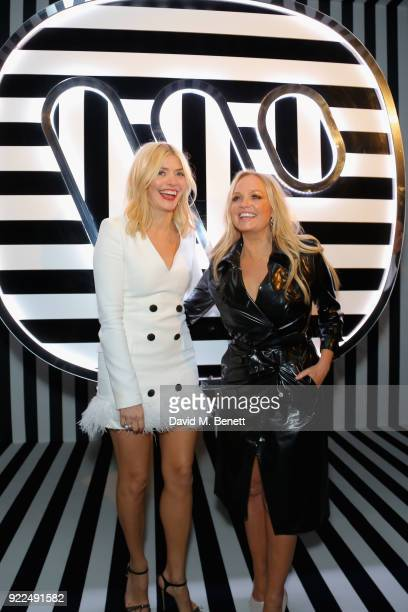 Emma Bunton and Holly Willoughby attend the Brits Awards 2018 After Party hosted by Warner Music Group Ciroc and British GQ at Freemasons Hall on...