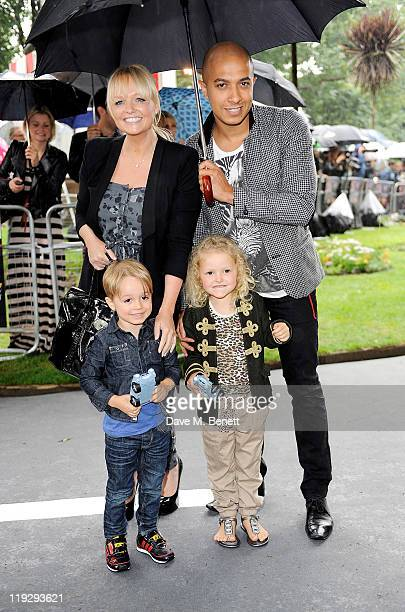 Emma Bunton and Jade Jones attend a pre-party celebrating the UK Premiere of CARS 2 at Whitehall Gardens on July 17, 2011 in London, England.