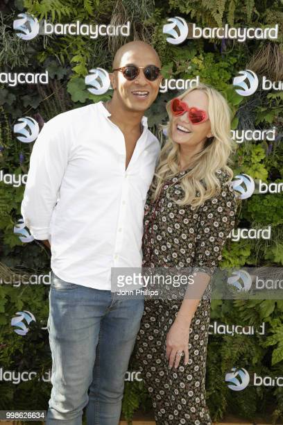 Emma Bunton and Jade Jones attend as Barclaycard present British Summer Time Hyde Park at Hyde Park on July 14, 2018 in London, England.