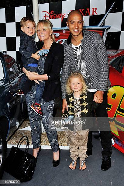 """Emma Bunton and Jade Jones attend pre party for the """"CARS 2"""" UK premiere at Whitehall Gardens on July 17, 2011 in London, England."""
