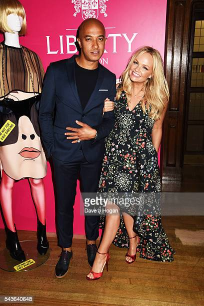 Emma Bunton and Jade Jones attend the after party of the world premiere of 'Absolutely Fabulous The Movie' at Liberty on June 29 2016 in London...