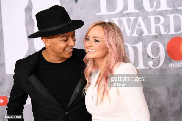 Emma Bunton and Jade Jones attend The BRIT Awards 2019 held at The O2 Arena on February 20, 2019 in London, England.