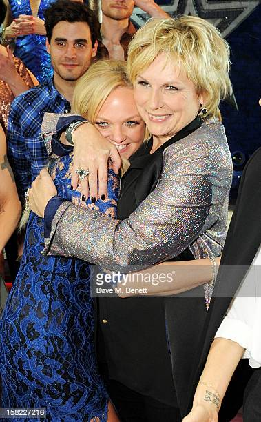 Emma Bunton and Jennifer Saunders pose backstage at the Gala Press Night performance of 'Viva Forever' at the Piccadilly Theatre on December 11, 2012...