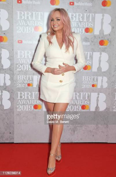 Emma Bunton arrives at The BRIT Awards 2019 held at The O2 Arena on February 20 2019 in London England
