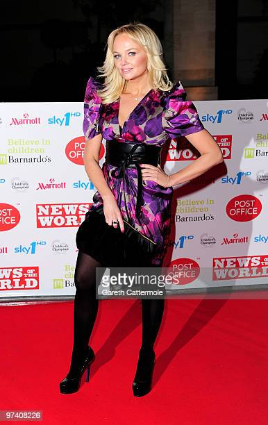 Emma Bunton arrives at the Children's Champions 2010 Awards at the Grosvenor House Hotel on March 3 2010 in London England