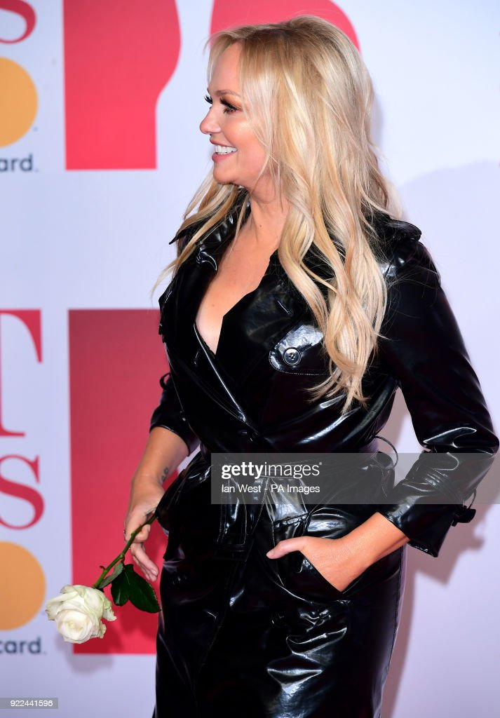 Emma Bunton attending the Brit Awards at the O2 Arena, London