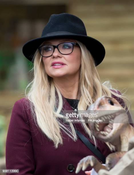Emma Bunton attending the opening of World of Dinosaurs a brand new attraction at Paradise Wildlife Zoo Hertfordshire