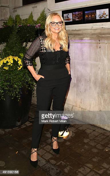 Emma Bunton attending the Specsavers 'Spectacle Wearer of the Year' party on October 6 2015 in London England