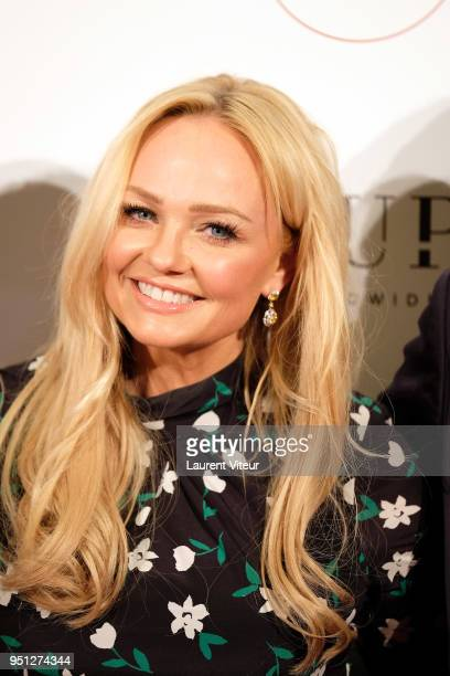 "Emma Bunton attends ""Global Gift Gala Paris 2018 at Four Seasons Hotel George V on April 25, 2018 in Paris, France."