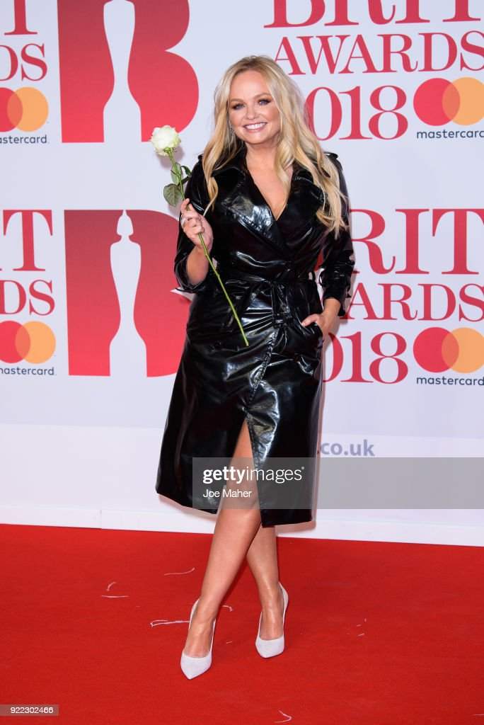 Emma Bunton attends The BRIT Awards 2018 held at The O2 Arena on February 21, 2018 in London, England.