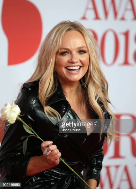 AWARDS 2018*** Emma Bunton attends The BRIT Awards 2018 held at The O2 Arena on February 21 2018 in London England