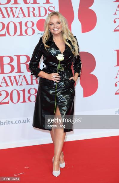 AWARDS 2018 *** Emma Bunton attends The BRIT Awards 2018 held at The O2 Arena on February 21 2018 in London England