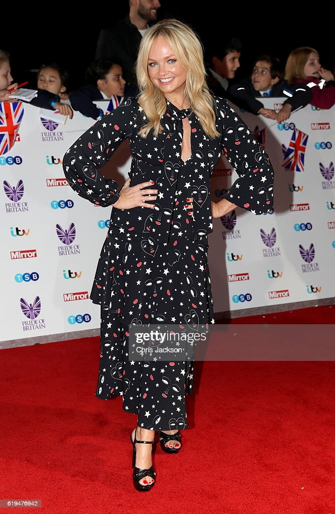 Emma Bunton attends the Pride Of Britain awards at the Grosvenor House Hotel on October 31, 2016 in London, England.