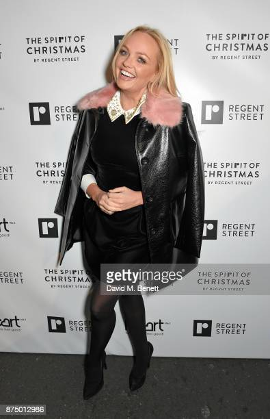 Emma Bunton attends the Regent Street Christmas Lights switch on event with Heart FM on November 16 2017 in London England
