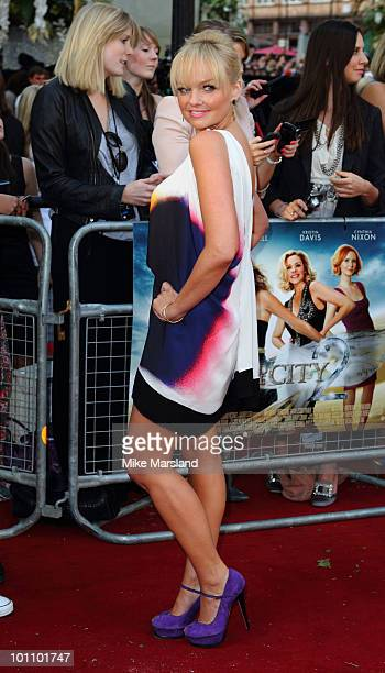 Emma Bunton attends the UK premiere of Sex And The City 2 at Odeon Leicester Square on May 27 2010 in London England