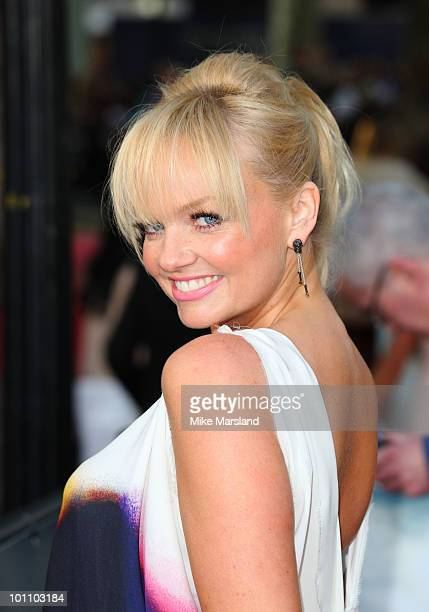 "Emma Bunton attends the UK premiere of ""Sex And The City 2"" at Odeon Leicester Square on May 27, 2010 in London, England."