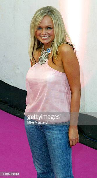 Emma Bunton during 2003 London Fashion Week Spring 2004 Julien MacDonald Arrivals at Saatchi Gallery in London United Kingdom