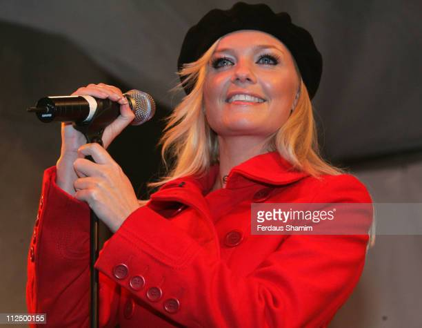 Emma Bunton during Emma Bunton Turns on Covent Garden Christmas Tree Lights at Covent Garden in London, Great Britain.