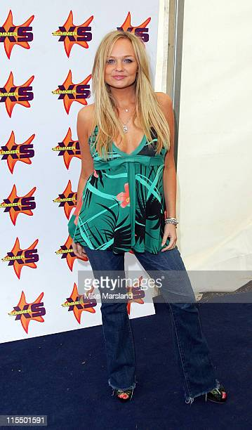 Emma Bunton during Summer XS Concert 2004 Backstage at The National Bowl in Milton Keynes Great Britain