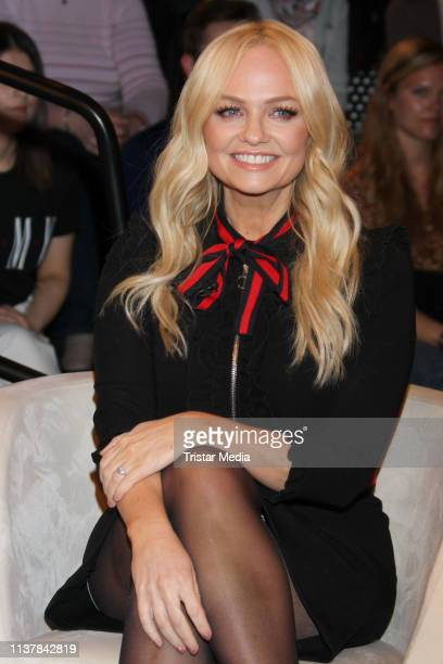 "Emma Bunton during the ""Markus Lanz"" TV show on April 17, 2019 in Hamburg, Germany."