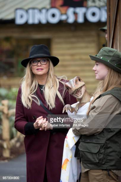 Emma Bunton during the opening of World of Dinosaurs a brand new attraction at Paradise Wildlife Zoo Hertfordshire PRESS ASSOCIATION Picture date...