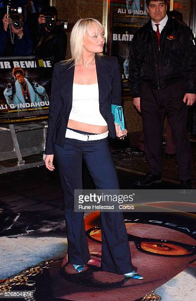 Emma Bunton formerly known as Baby Spice of the Spice Girls attends the premiere of the movie 'Ali G Indahouse' in London