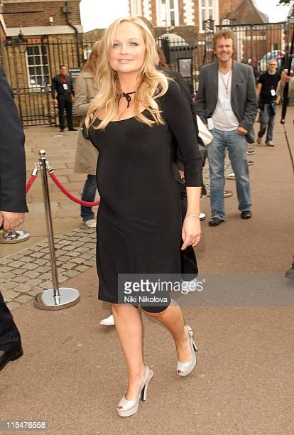 Emma Bunton from The Spice Girls during The Spice Girls Photocall Arrivals and Depatures at Royal Observatory in London Great Britain