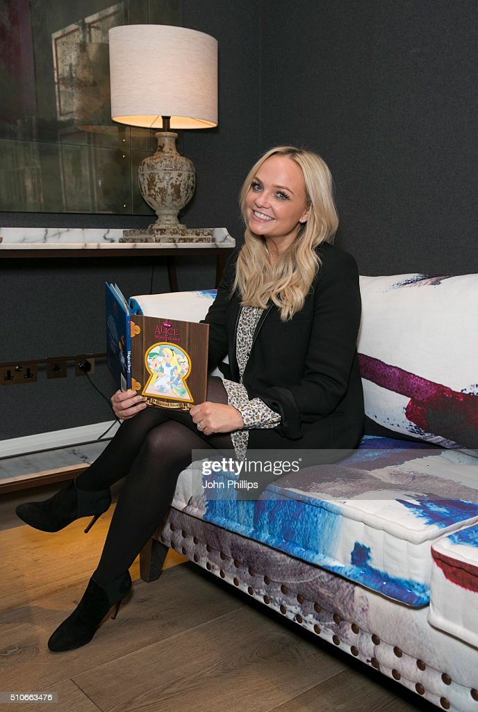 Emma Bunton Hosts Make Believe Tea Party For Sainsbury's
