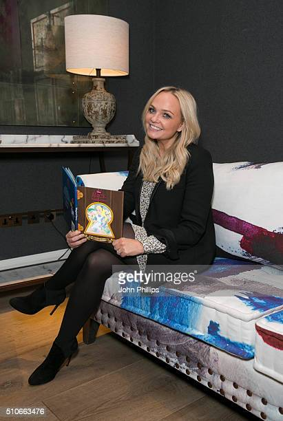 Emma Bunton hosts make believe tea party for Sainsbury's at Ham Yard Hotel on February 16 2016 in London England