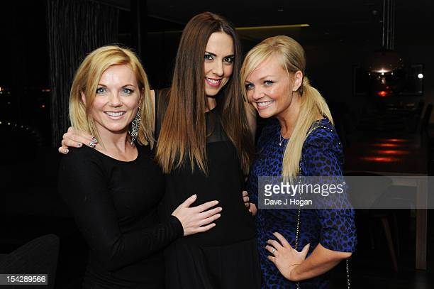 Emma Bunton, Mel C and Geri Halliwell attend the party after a performance of Jesus Christ Superstar at The Hilton London Wembley on October 17, 2012...