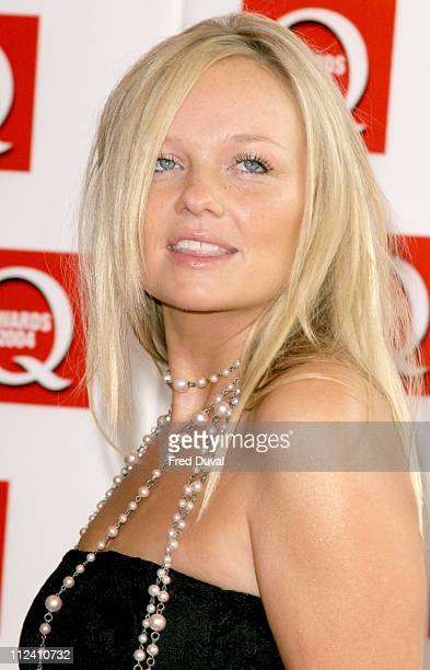 Emma Bunton of the Spice Girls during The 2004 Q Awards - Arrivals at Dorchester Hotel in London, Great Britain.