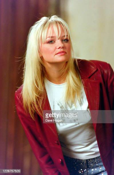 "Emma Bunton of The Spice Girls record the video for the single "" On Top of the World"", England's official song for the 1998 Fifa World Cup, London,..."