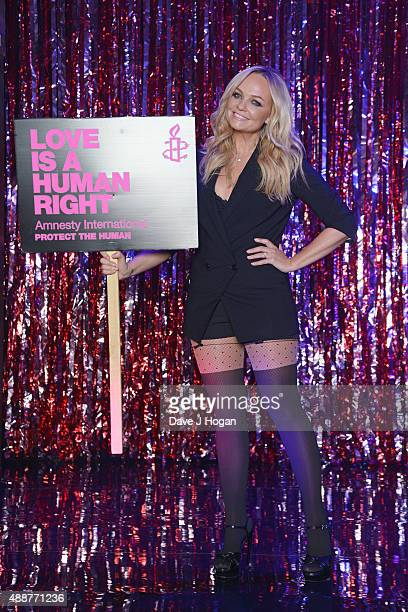 Emma Bunton rehearses during the Gala Charity of Richard O'Brien's Rocky Horror Show in Aide of Amnesty International which was broadcast live to...