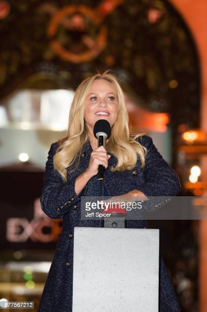 Emma Bunton switches on the Christmas lights at The Royal Exchange on November 22 2017 in London England