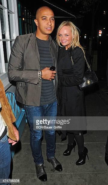 Emma Bunton with her boyfriend Jade Jones are seen on November 03, 2012 in London, United Kingdom.