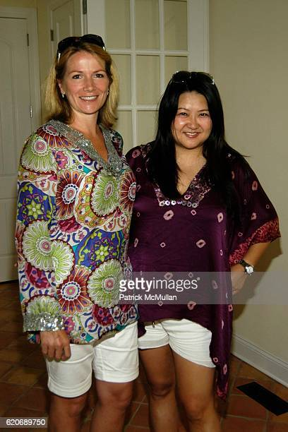 Emma BurnabyAtkins and Susan Shin attend Tanqueray No TEN 'Pool Perspectives' Luncheon at Social Life Magazine Estate on July 19 2008 in Sag Harbor NY