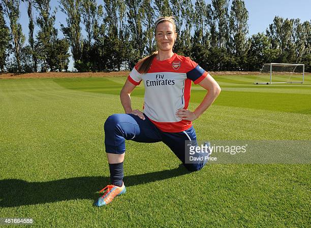 Emma Byrne of Arsenal Ladies during their training session at London Colney on July 3 2014 in St Albans England