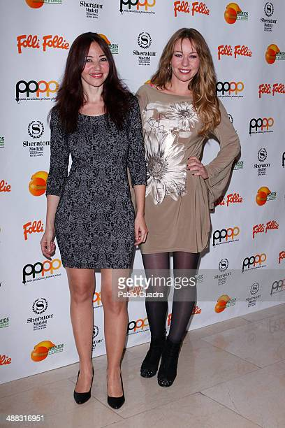 Emma Caballero and Cristina Goyanes attend Folli Follie Excelence Awards 2014 on May 5 2014 in Madrid Spain