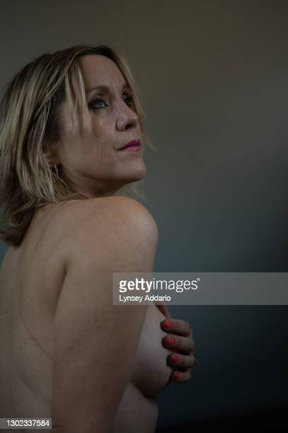 Emma Campbell photographed in her bedroom on September 20, 2020 in London, England. Campbell was 39 when she was diagnosed in 2010 after discovering...