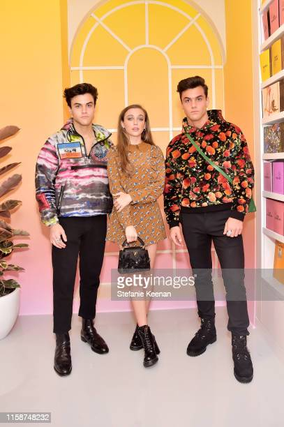 Emma Chamberlain and The Dolan Twins attend Louis Vuitton X Opening Cocktail on June 27 2019 in Beverly Hills California