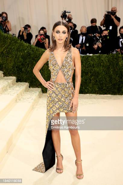 Emma Chamberlain attends The 2021 Met Gala Celebrating In America: A Lexicon Of Fashion at Metropolitan Museum of Art on September 13, 2021 in New...