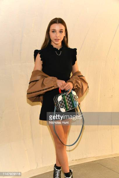 Emma Chamberlain attends the Louis Vuitton Cruise 2020 Fashion Show at JFK Airport on May 08 2019 in New York City