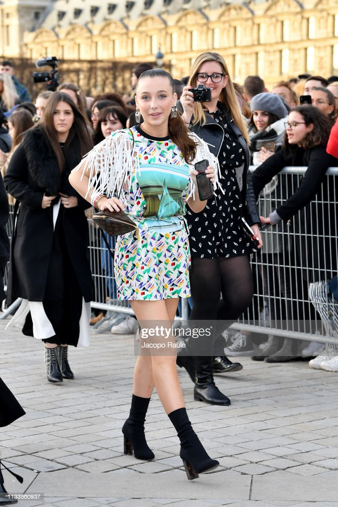 Emma Chamberlain Attends The Louis Vuitton Show As Part Of The Paris