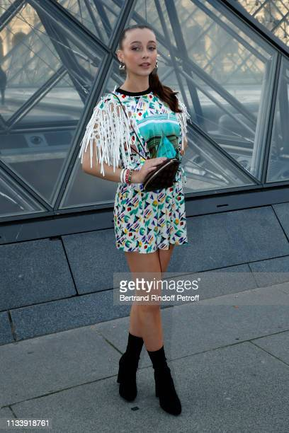 Emma Chamberlain attends the Louis Vuitton show as part of the Paris Fashion Week Womenswear Fall/Winter 2019/2020 on March 05 2019 in Paris France