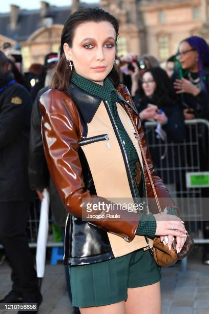 Emma Chamberlain attends the Louis Vuitton show as part of the Paris Fashion Week Womenswear Fall/Winter 2020/2021 on March 03 2020 in Paris France