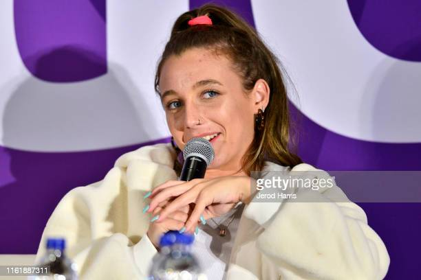 Emma Chamberlain attends VidCon 2019 at Anaheim Convention Center on July 13 2019 in Anaheim California