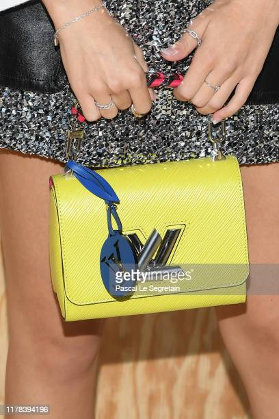 Emma Chamberlain bag detail attends the Louis Vuitton Womenswear Spring/Summer 2020 show as part of Paris Fashion Week on October 01 2019 in Paris...